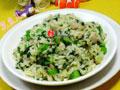 肉丝菜芯炒饭(咖喱味)的做法