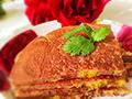 橙丁玫瑰松饼的做法