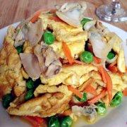 文蛤炒鸡蛋的做法