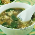 菠菜酸辣汤的做法