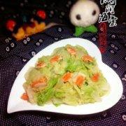 白菜炒虾黄的做法