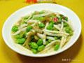 榨菜丝茭白炒毛豆的做法