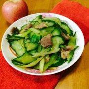 肉片炒青瓜的做法