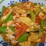 鸡蛋尖椒炒西红柿的做法