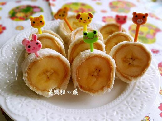 花生香蕉卷的做法