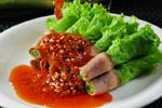 辣椒生菜卷