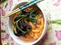 自制芥菜胡萝卜面条的做法