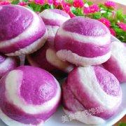 螺纹紫薯花生包的做法
