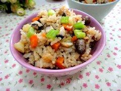 香菇山药豆什锦饭的做法