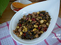 雪菜肉末炒黄豆的做法