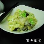 鸡蛋炒蛤肉