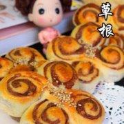 芝麻豆沙面包的做法