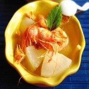 【白萝卜和虾能一起吃吗】白萝卜炖虾的做法_虾不能和什么一起吃