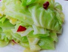 糖醋圆白菜的做法视频