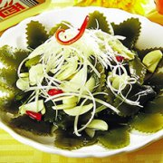 蒜香海带茎的做法