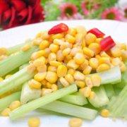 西芹拌玉米的做法