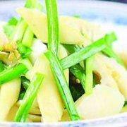 韭菜薹拌竹笋的做法