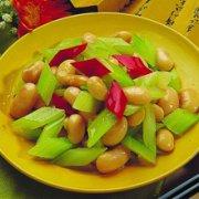 西芹拌芸豆的做法
