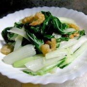 虾米拌油菜的做法