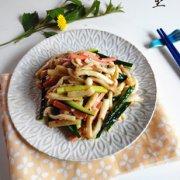 海鲜菇拌火腿的做法