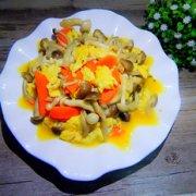 鸡蛋炒双菇的做法