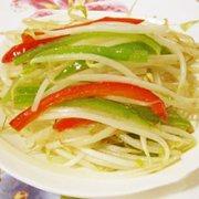 双椒黄豆芽的做法