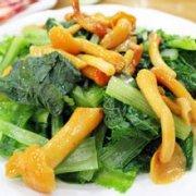滑子菇小白菜的做法