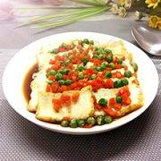 豌豆烩豆腐的做法