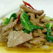猪肝炒油菜的做法