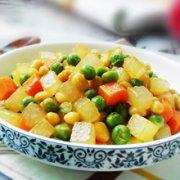 冬瓜双豆的做法