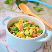 玉米青豆炒胡萝卜粒的做法