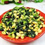 雪菜炒黄豆的做法