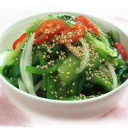 芝麻炒小白菜的做法