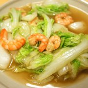 虾仁奶白菜的做法