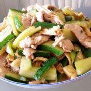 黄瓜熘肉片的做法