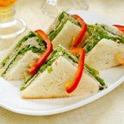 菠菜三明治的做法