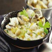 蛤蜊牛奶饭的做法