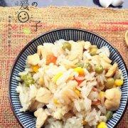 鸡肉彩蔬焖饭的做法