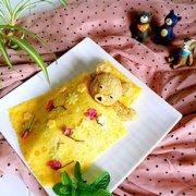 小熊咖喱牛肉蛋包饭的做法