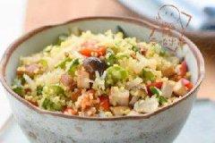 干贝芦笋炒小米饭的家常做法
