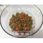 胡萝卜肉碎焖豌豆的做法