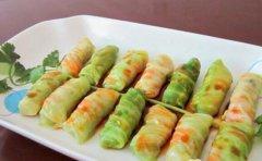 蚝油翡翠包菜卷的做法视频