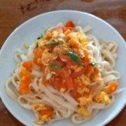 西红柿打卤面的做法