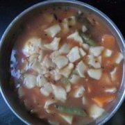 南瓜汤面的做法