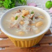 猪肝黄豆粥的做法