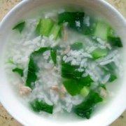 蔬菜肉沫粥的做法