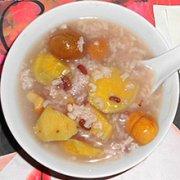 榛子板栗白糖粥的做法