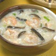 淡菜虾米西芹粥的做法