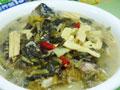 雪菜腐竹鱼头汤的做法