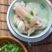 花生绿豆猪蹄汤的做法